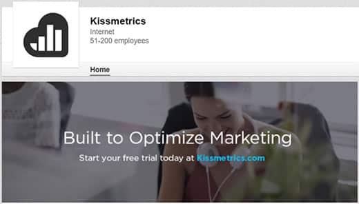 Компания LinkedIn от компании KISSmetrics