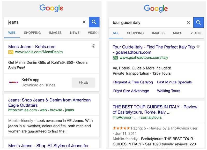 Значок контекстной рекламы Google теперь зеленый
