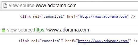 HTTPS и HTTP и неправильная настройка rel= canonical