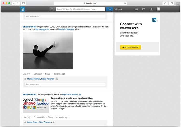 Размеры изображений в Linkedin