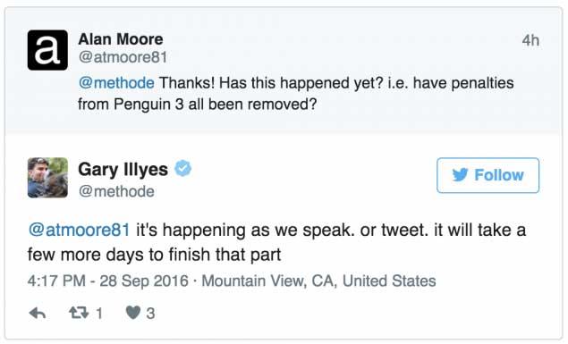 Сайты оштрафованные Penguin 3.0 в течении нескольких дней выйдут с под санкций
