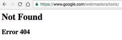 Google Search Console отдает - 404