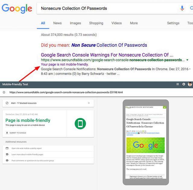 Google: медленные страницы могут обозначатся в поиске «Сайт не оптимизирован для мобильных устройств»