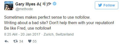 Google: используйте rel=«nofollow» для ссылок на плохие сайты
