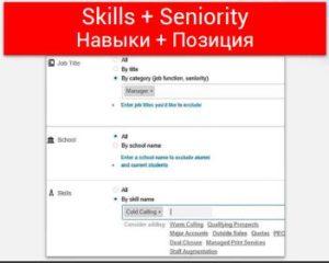 Таргетинг на Навык (Skills) + Позиция (Seniority)