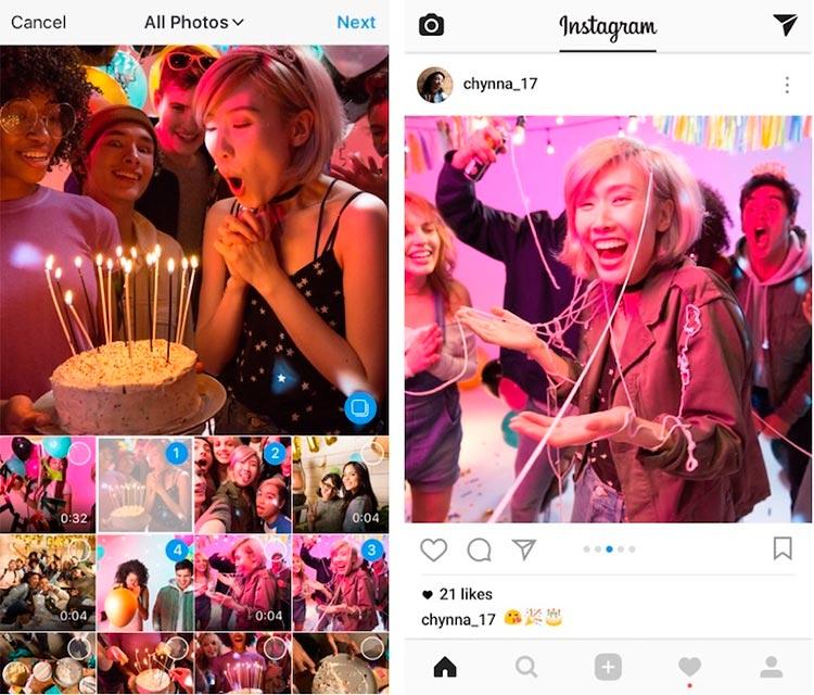 Instagram запустил «карусели»