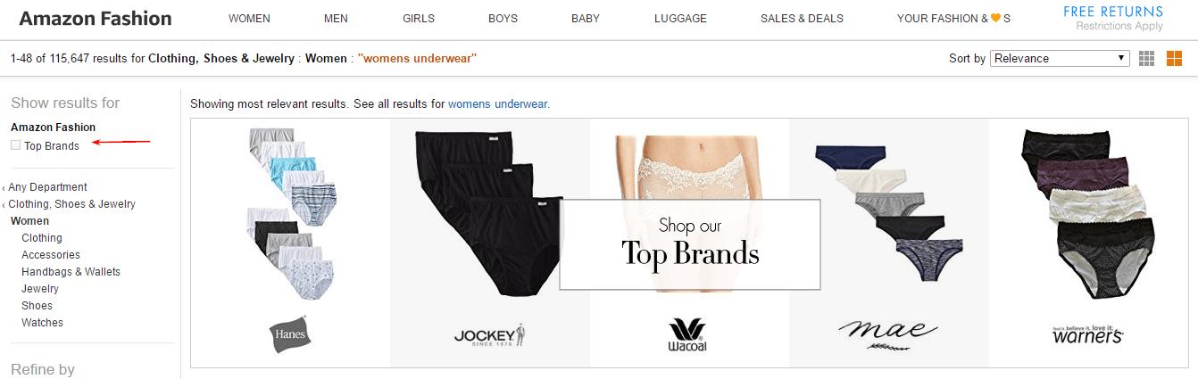 Amazon.com в категории Тop brands
