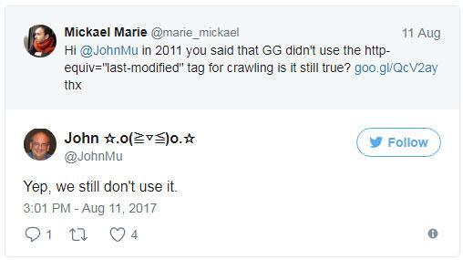 Google игнорирует мета-тег Last-Modified