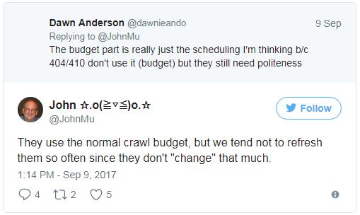 Как влияет наличие 404/410 ошибок на краулинговый бюджет?